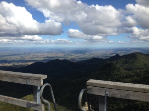 Mt Pirongia summit viewing platform view.