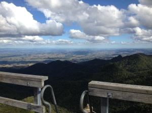 Mt Pirongia summit viewing platform view.